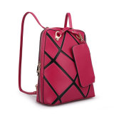 The Newest Fashion Square Leather Ladies Backpack with Coin Purse