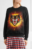 2017 Black Animal Printed Cotton Jersey Sweatshirt for Your Own Designs