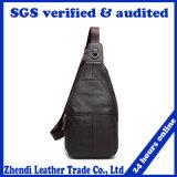 New Men′s Fashion Chest Leather Shoulder Bag (0217)