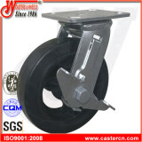 4 Inch Best Price Rubber Swivel Caster with Side Brake