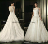 Lace Bridal Ball Gowns Backless Tulle Wedding Dresses Z1031