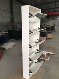 Wood Mirror Shoe Rack Five Tiers
