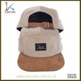 Custom Suede Brim 5 Panel Cap Blank Corduroy Hat