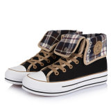 2013 Autumn New Arrival Women High Top Vulcanization Canvas Shoes (BF-K070)
