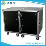 Hot-Sale 8u, 10u 12u Space Mixer Rack Case Carrying Wheels for Amplifier Equipments