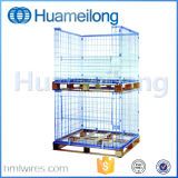 Collapsible Metal Wire Stacking Pallet Cage