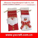 Christmas Decoration (ZY15Y031-1-2) Luxury Christmas Promotion Wine Sack Bag