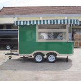 Supportingg Custom Motorcycle Hamburgers Fried Ice Cream Roll China Mobile Food Cart for Small Bussiness