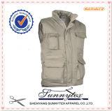 OEM Cheap Custom Workwear Outdoor Fishing Warm Pocket Waistcoat Vest