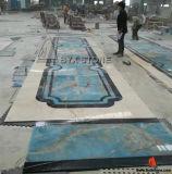 Interior Lobby Blue Onyx Marble Floor Water Jet Tile Medallion