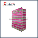 Hot Stamping Paper Shopping Bag with Ribbon Handle From Yiwu