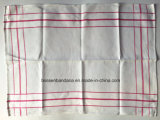 China Factory Produce Custom Red Checked Cotton Jacquard Tea Towel