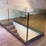 Balcony Aluminum U Base Channel Glass Railing for Deck Intalled Design