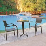 Garden Rattan Furniture Table and Chair Set with Cushion for Outdoor (TG-JW88)