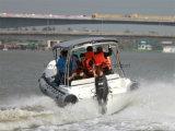 Liya Best Center Console Boats 6.6m Rigid Inflatable Fiberglass Rescue Boat