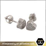 Heart 925 Sterling Silver CZ Stud Earrings for Women Mje016