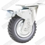 Heavy Duty Antiskid PU Caster with Top Brake (G4207D)