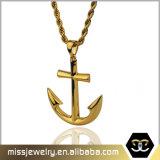 New Design Custom Anchor Gold Pendant