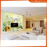 Italian Style Wallpaper/ 3D Beauty Yellow Flowers Wallpapers/Oil Painting
