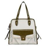 Soft PU Material Rivet Fashion Leather Handbag (MBLX030029)