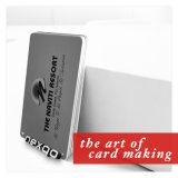 High Quality PVC Plastic Silver Gold Hot Stamp Magnetic Stripe Card with Overlay