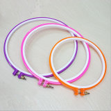 High Quality Colorful Plastic Round Embroidery Hoop