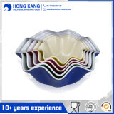 Custom Design Dinnerware Salad Melamine Bicolor Bowl