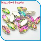 Rainbow Crystal Stone Sew on Crystal Strass with Metal Base