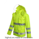 Safety Outerwear with ANSI107 Certificate (C2440 Rain Jacket)