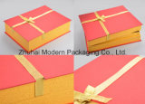 OEM Lid and Base Gift Box with Gold Ribbon