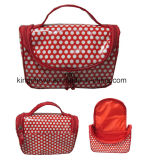 Fashion Canvas with One PVC Film on The Surface Cosmetic Bag Set (KCC239)