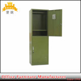 Military Two Tier Knock Down School Student Use 2 Door Layers Clothes Storage Steel Locker Cabinet for Army