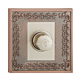 Hotel Brass Dimmer Light Switch with Classic Patterns