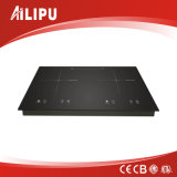 Metal Housing with Full Touching Built-in Double Burner Induction Cooker