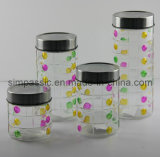 Hand Drawing Storage Jar / Canister with Metal Cap (4PCS) (SG1375SJ)