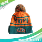 Promotional Jacquard Acrylic Beanie Knitted Hat with Pompom Ball (115)