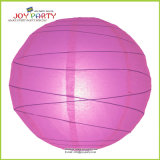 Hot Pink Irregular Ribbed Paper Lantern