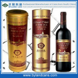 Round Tin Wine Box
