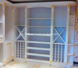 Bck Newest Antique White Paintting Us Red Oak Wine Cabinet C-1
