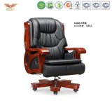 Antique Office Wooden Executive Leather Chair (A-043)