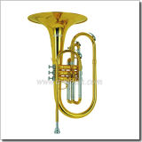 Yellow Brass Leadpipe F Key Marching-Mellophone (MMF6100)