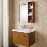 Oppein Modern Brown Melamine Wooden Bathroom Cabinets (OP13-023-80)