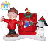 Snoopy Christmas Inflatable Motorcycle Party Decoration