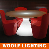 LED Plastic Round Shaped Dining Table Sale