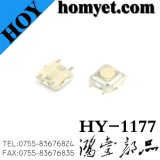 High Quality 4pin Tact Switch with 3.3*3.3*1.5mm Round Button (HY-1177)