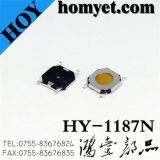 Manufacturer 5.2*5.2*0.8mm Tact Switch with 4pin 3mm Round Button (HY-1187N)
