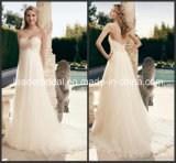 Empire Waist Princess Bridal Gown Sweetheart Tulle Wedding Dress Cab2172
