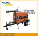 Portable Low Oil Pressure Diesel Generator Mobile Light Tower