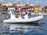 Liya 19ft Red Rigid Inflatable Rib Boat with Outboard Engine