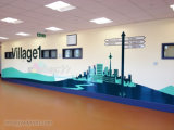 Customized Removable WaterProof Self-Adhesive Wall Sticker For Advertising
